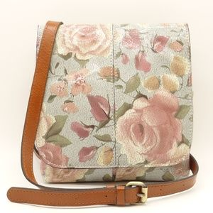 NWT PATRICIA NASH Granada Crackled Rose Garden Bag